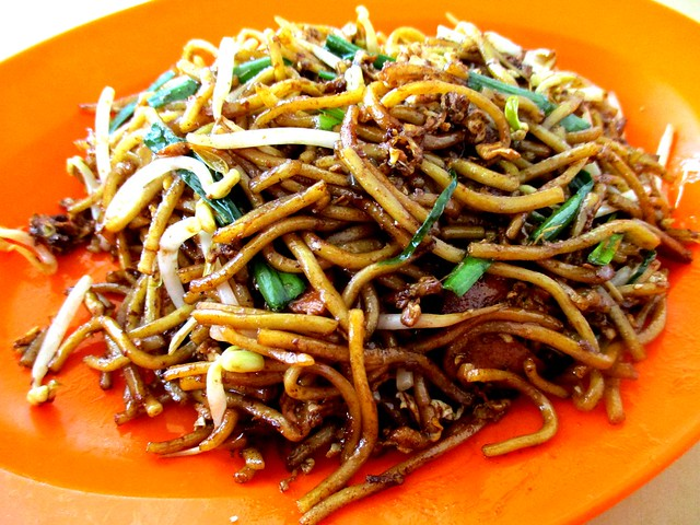 Selangau fried noodles, dry