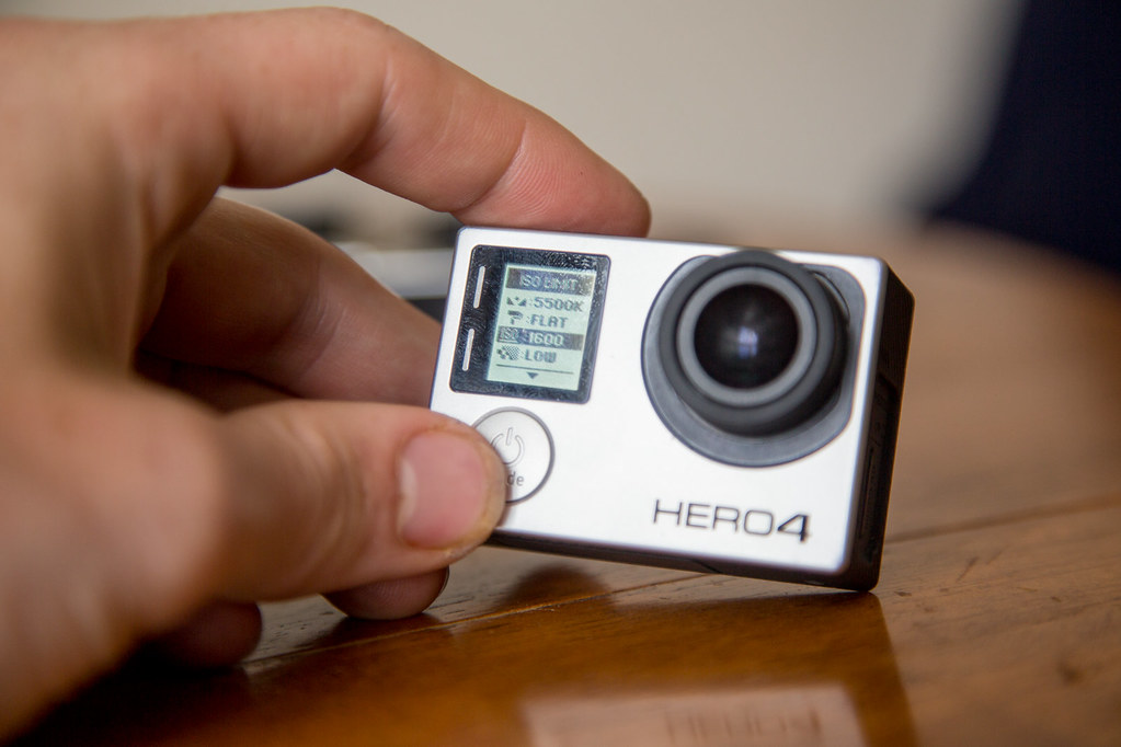 Changing the gopro camera settings for 360 filming. set the iso