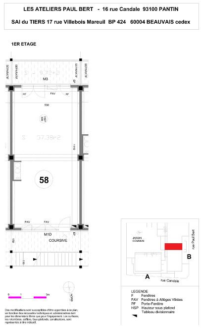 Les Ateliers Pault Bert - Plan de vente - Lot 58