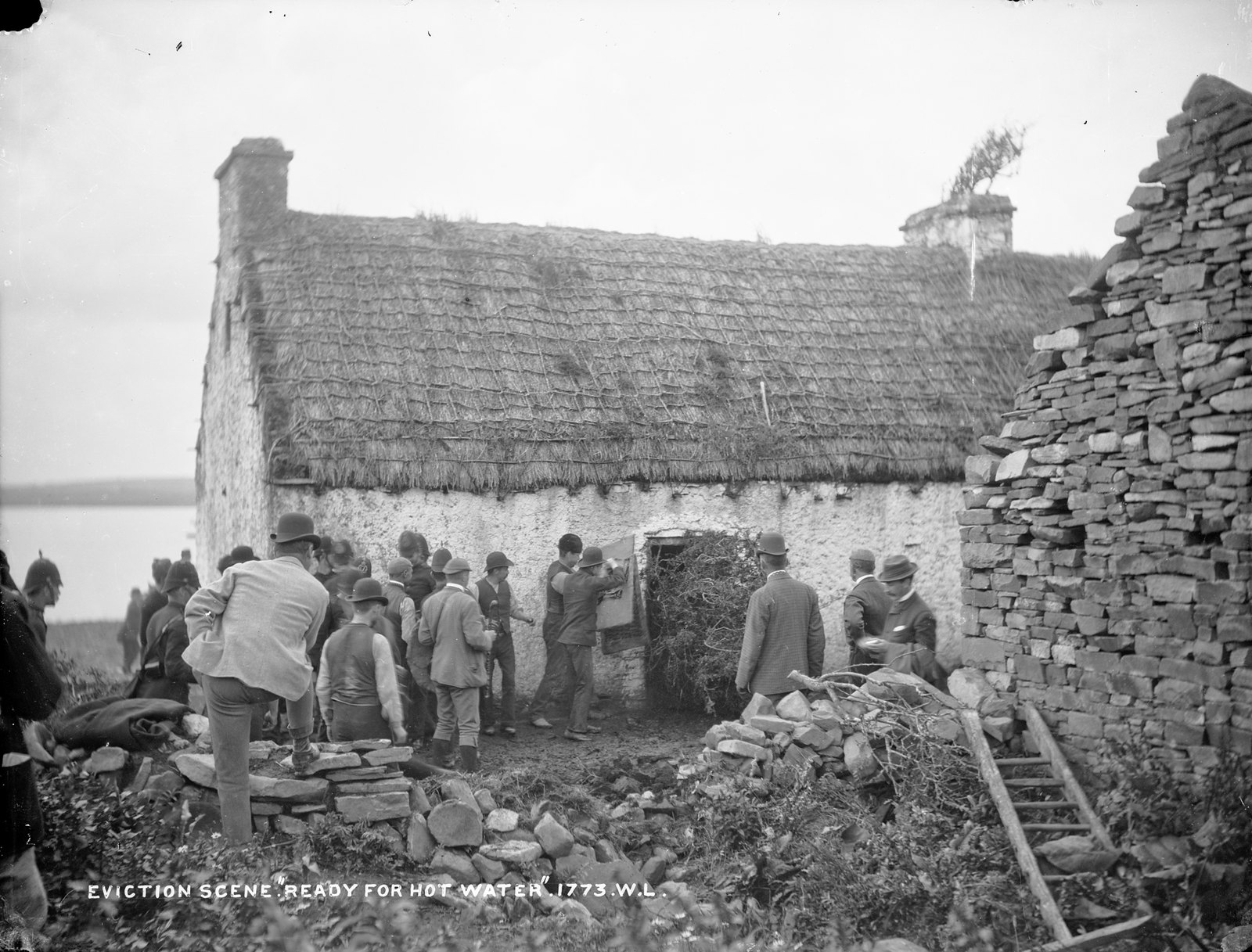 """Eviction scene """"Ready for hot water"""" 