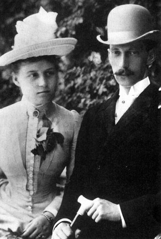 Grand Duke Pavel Alexandrovich with his first wife Princess Alexandra.