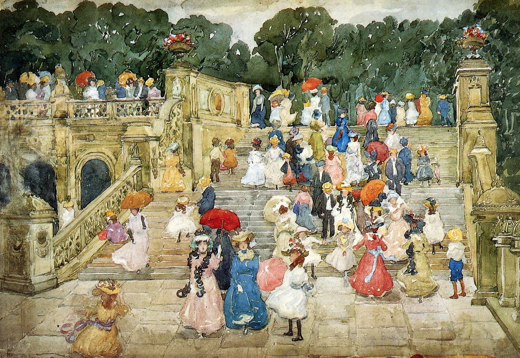 The Mall, Central Park by Maurice Prendergast, 1901