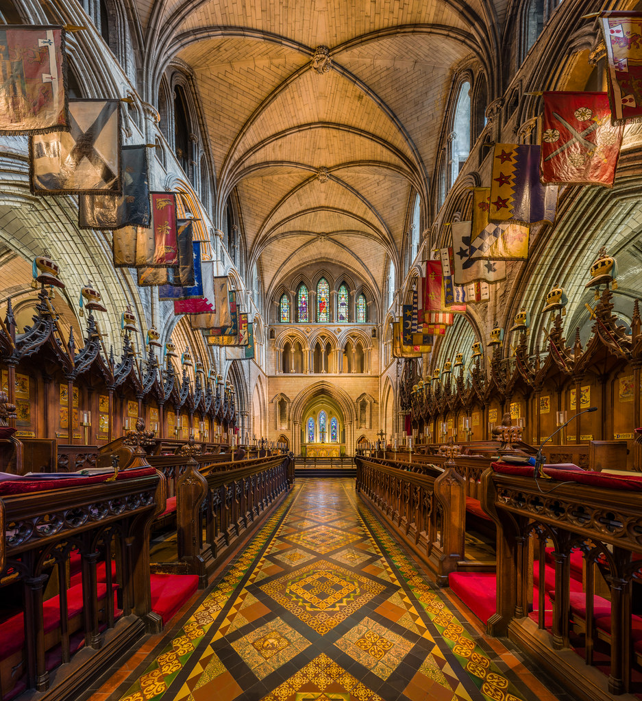 The choir of St Patrick's Cathedral in Dublin, Ireland. Credit David Iliff