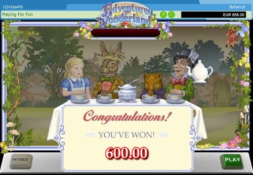 free Adventures in Wonderland slot game symbols