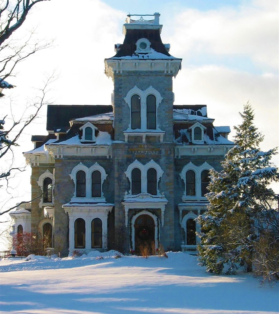 Shard Villa (The Columbus Smith Estate) Salisbury, Vermont. Completed 1874. Image credit Don Shall.