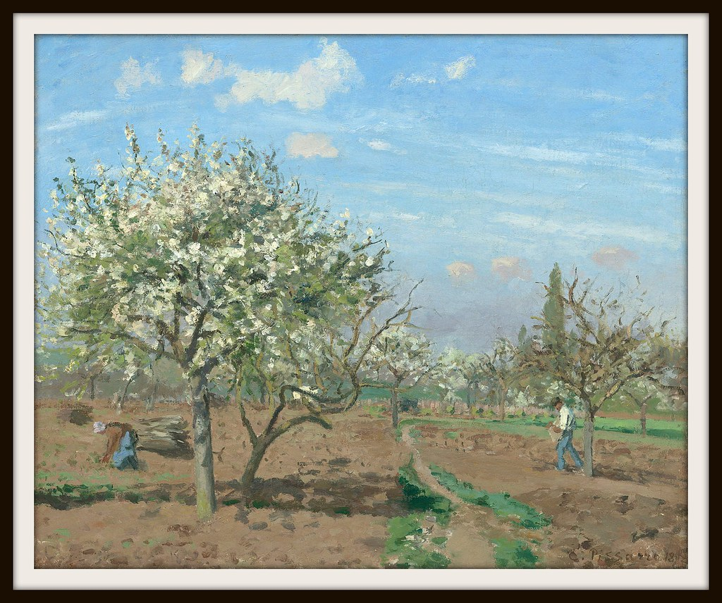 Le verger (The Orchard) by Camille Pissarro, 1872.