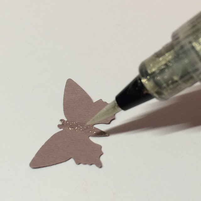 Glittering a punched butterfly with Wink of Stella
