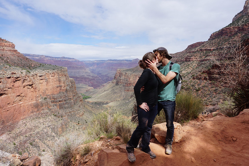 Kissing at the Grand Canyon
