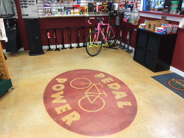 Pedal Power Essex CT Floor Logo