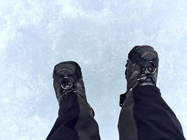 Caminando por el hielo