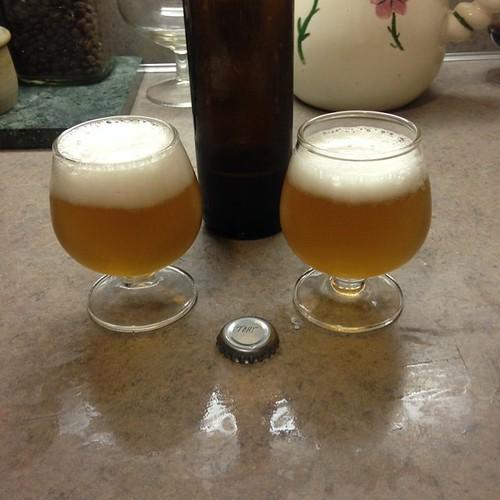Our Belgian Trippel that we brewed in June 2014