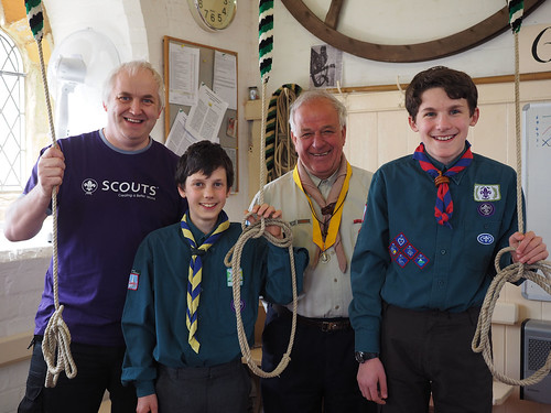 Photo of DC with Scout ringers in St James ringing room