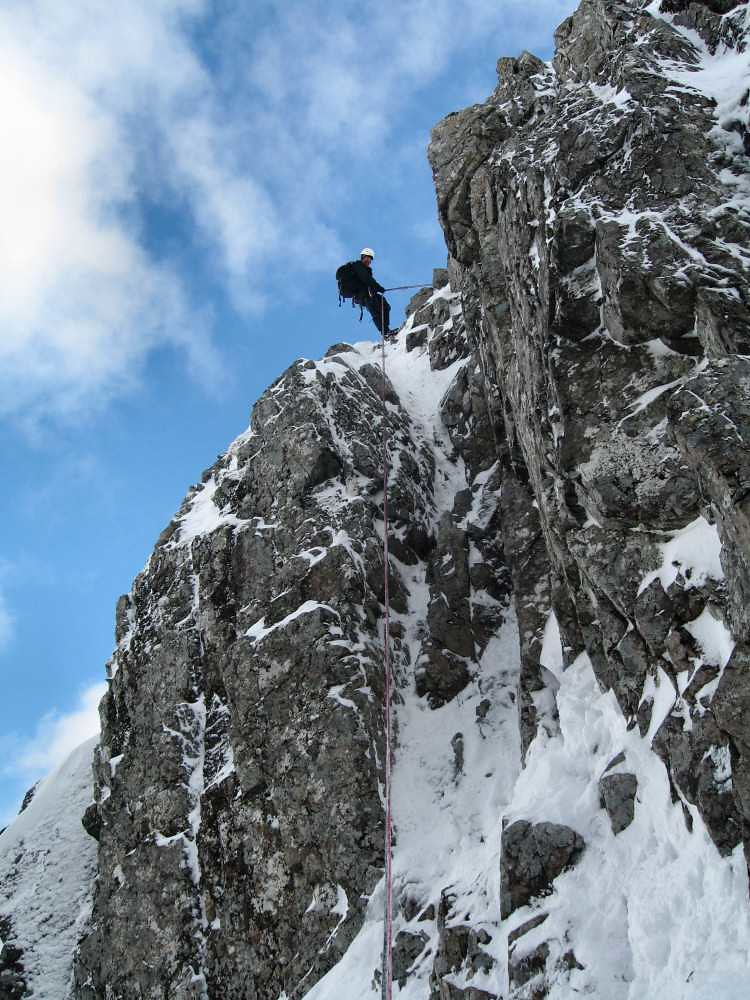Abseiling into the Douglas Gap