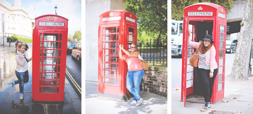Red telephone booths in London | via It's Travel O'Clock
