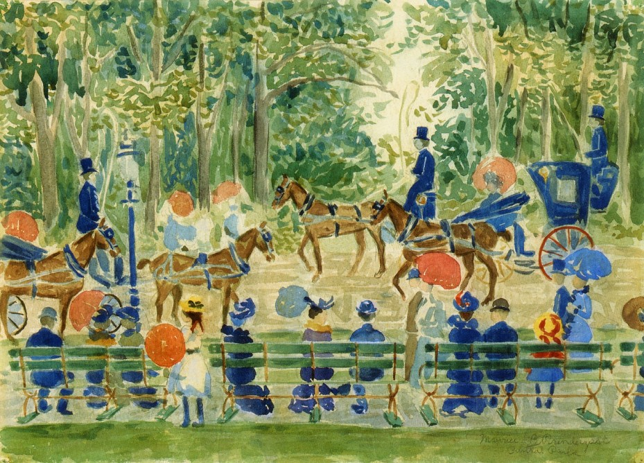 Central Park by Maurice Prendergast, 1901