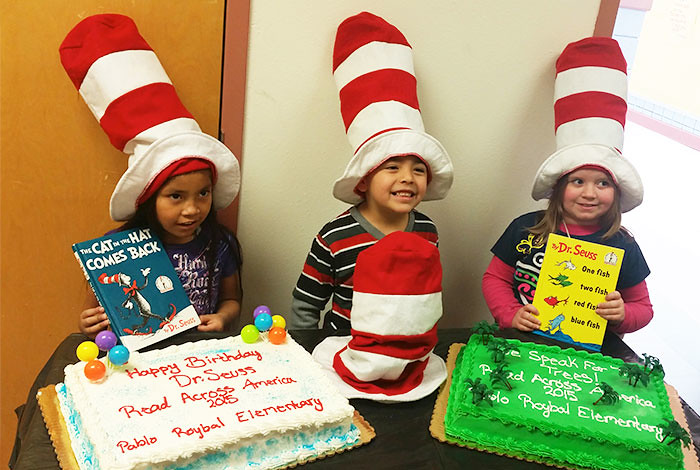 Students from Pablo Roybal Elementary in Pojoaque took part in Read Across America in 2015.