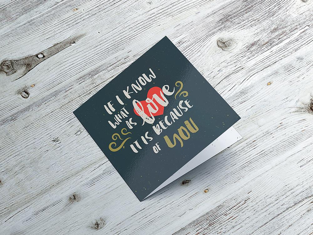 square invitation  u0026 greeting card mockup