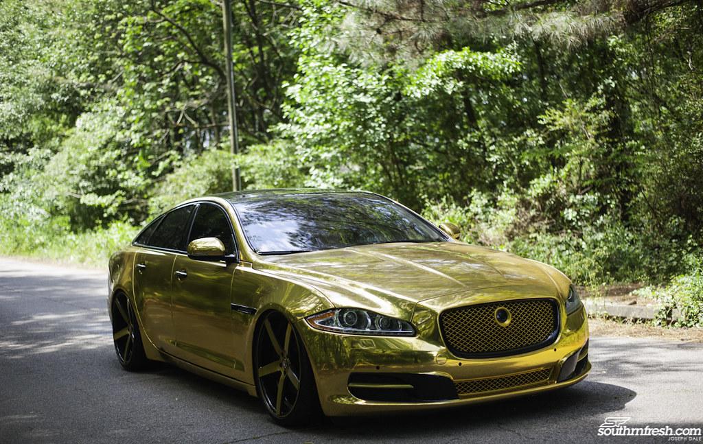 Attractive Gold Jaguar XJ   Gold WrappedJaguar XJ   Brushed Gold Rovos U2026   Flickr