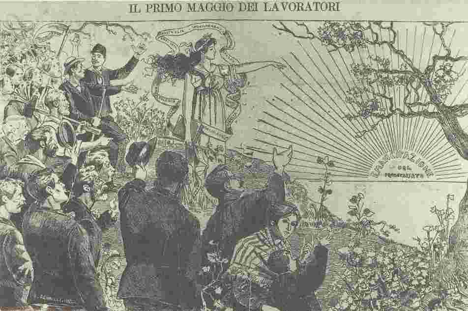 義大利,1894年五一海報「工人的美好未來」,羅馬