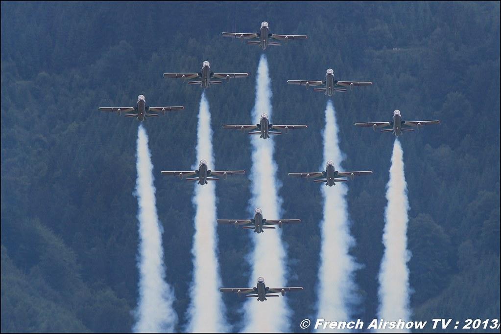 Frecce Tricolori , patrouille acrobatique officielle de l'armée de l'air italienne ,Pattuglia Acrobatica Nazionale (PAN) Frecce Tricolori, AIRPOWER13 , Zeltweg , Austria , airpower 2013 Zeltweg