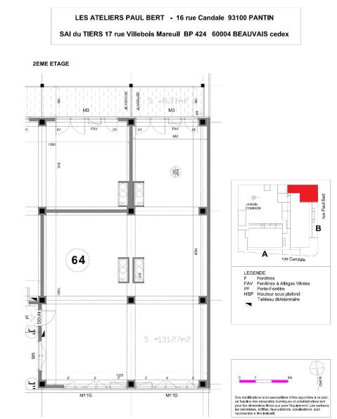 Les Ateliers Pault Bert - Plan de vente - Lot 64