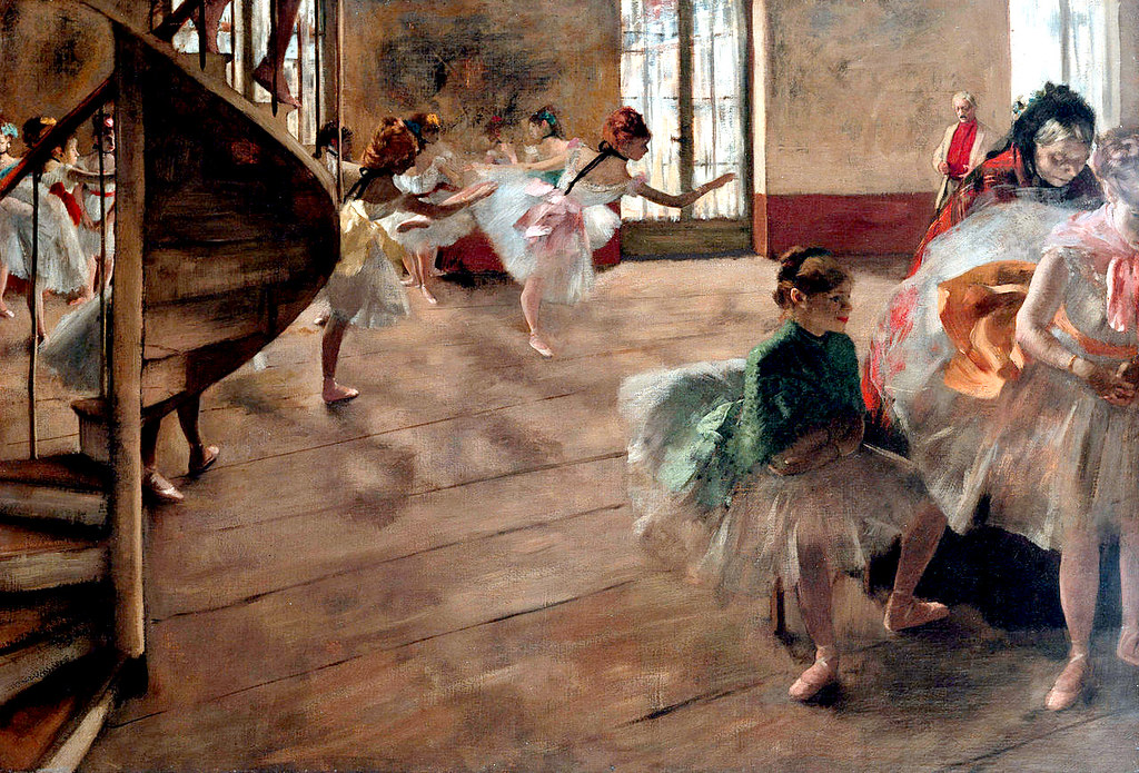 The Rehearsal by Edgar Degas, c.1874
