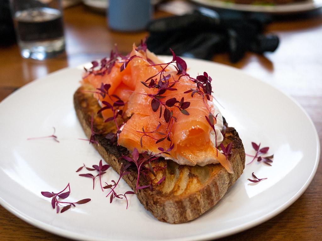 Salmon on Toast Coffee Cycle Saturday