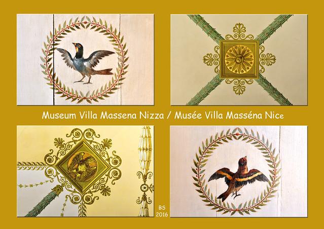 """Das Museum Masséna ist in einem Palais an der Promenade des Anglais untergebracht. Einst war das Gebäude die Villa von Monsieur Masséna, gebaut um 1898 im Stil der Belle Epoque – ein historisches Bauwerk erster Güte und ein architektonisches Kleinod. Es liegt direkt neben dem berühmten Hotel Negresco in einem kleinen Garten, dem """"Jardin de la légion d'Honneur"""" (= Garten der Ehrenlegion). André Masséna, ein Sohn der Stadt Nizza, Heerführer und Marschall von Frankreich, war ein verdienter General Napoleons. Geboren wurde er 1758 in Nizza, gestorben ist er 1817 in Paris. Im Museum gibt es Sammlungen alter Gemälde, Porzellan, Waffen, Schmuck, Kleidung, Möbel … rund um André Masséna und seine Familie. Außerdem existiert eine kleine Abteilung zur Geschichte Nizzas im 19. Jahrhundert. Der Eintrittspreis: 10 EUR (Stand 2016), wobei der Besuch vieler anderer Museen inbegriffen ist. Das Billet ist 48 Stunden lang gültig und wer mag, kann damit 2 Tage lang auf Intensiv-Museumstour gehen. Foto Brigitte Stolle März 2016"""