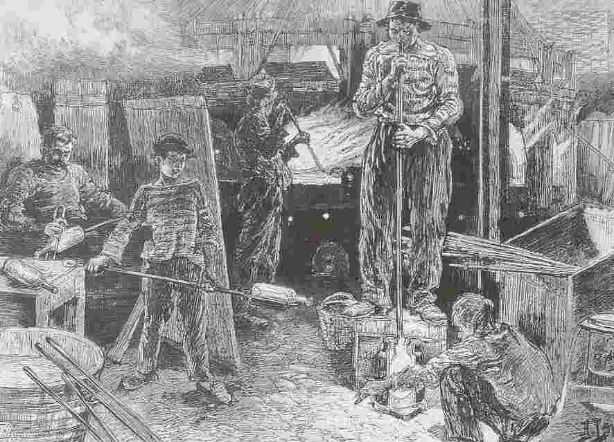 19世紀的工廠/版畫
