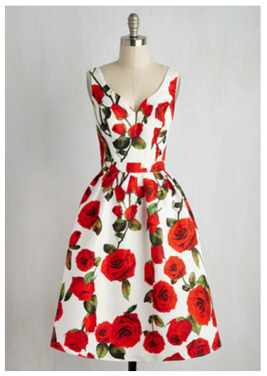 rose dress modcloth