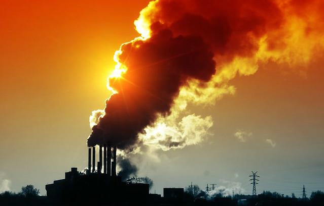 plant-emissions-sunset