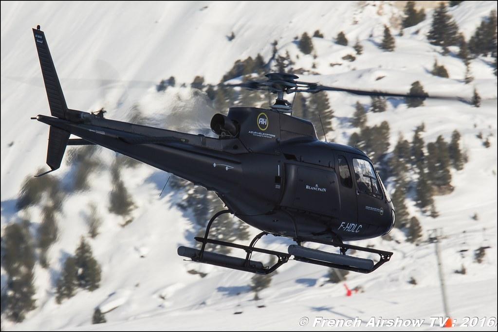 Eurocopter AS-350 B2 - F-HDLC, Azur Hélicoptère SARL - Salon Hélicoptère à Courchevel 2016, Meeting Aerien 2016