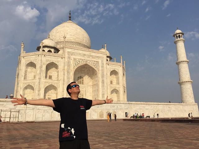 Sele en el Taj Mahal (India)