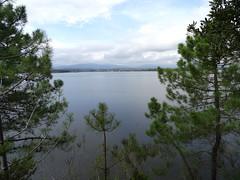 Vues de l'étang d'Urbinu depuis le sentier allant au Pozzu Sale