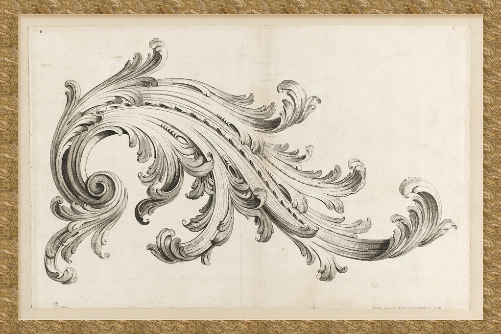 Alexis peyrotte quot acanthus leaf design etching flickr