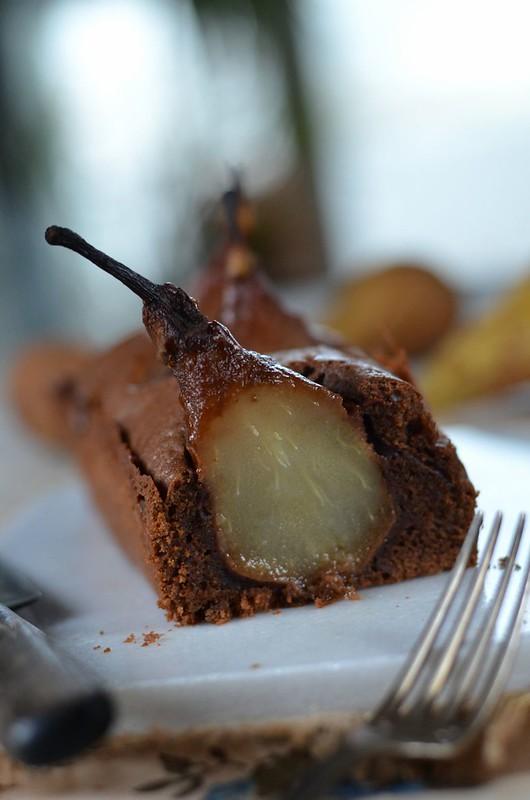 Joli cake aux poires et chocolat