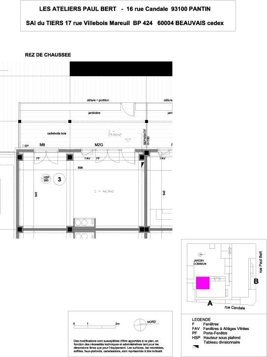 Les Ateliers Pault Bert - Plan de vente - Lot 3