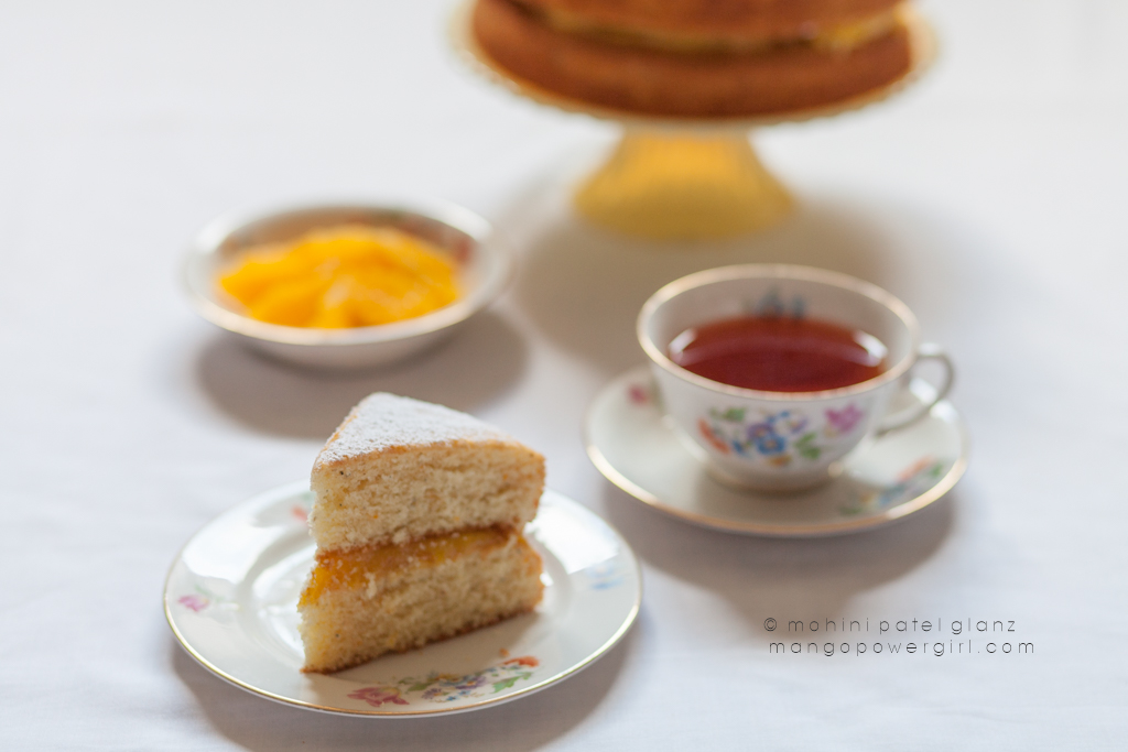 Afternoon Tea with a tropical Victoria Sponge Cake