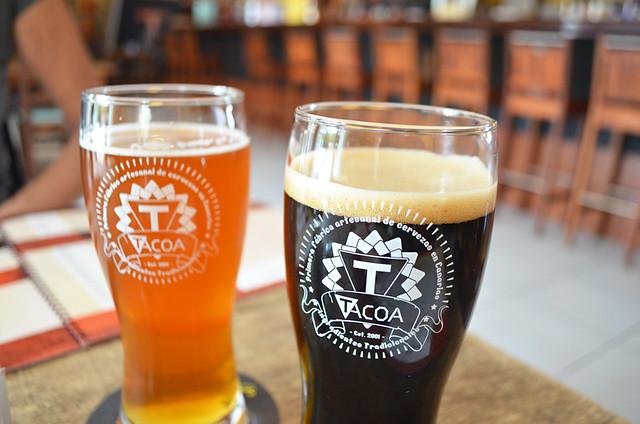 Black beer, Tacoa Cerveceria, El Sauzal, Tenerife