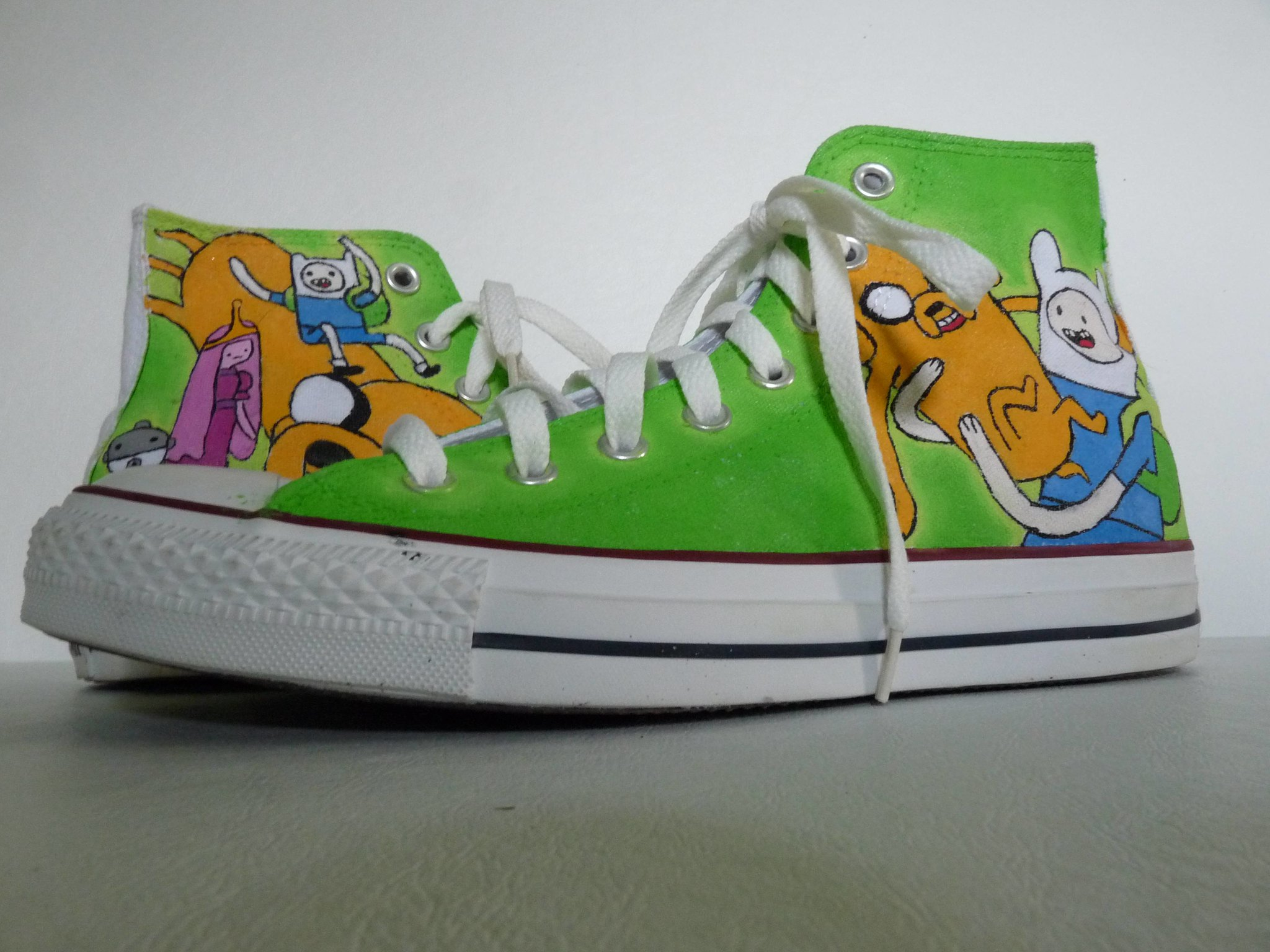 Adventure Time sneakers by SheriffKarli