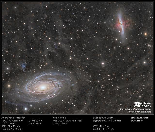 VCSE - Mai kép - M81 és M82 - André van der Hoeven, Neil Fleming & Michael Van Doorn