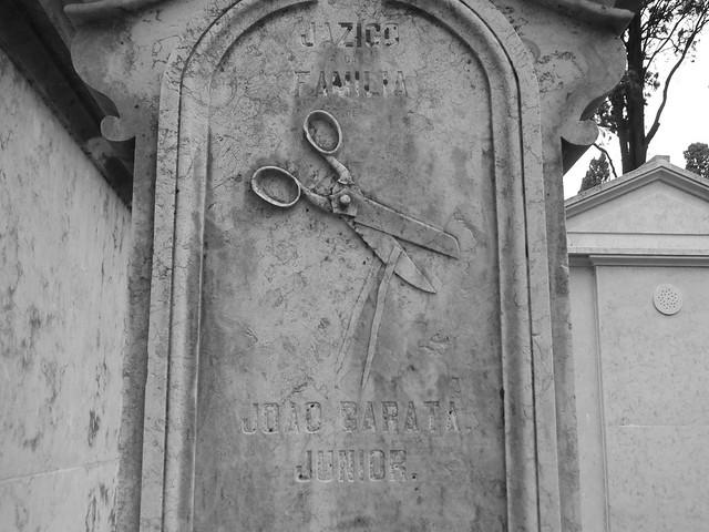 Detalle del Cementerio de los Placeres de Lisboa