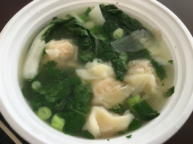 Shrimp and pork wonton soup - Lee's Deli