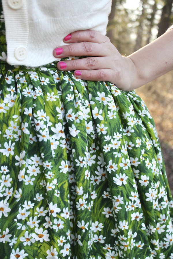 floral dress daisy