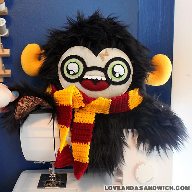 Harry Potter plush by LoveAndASandwich