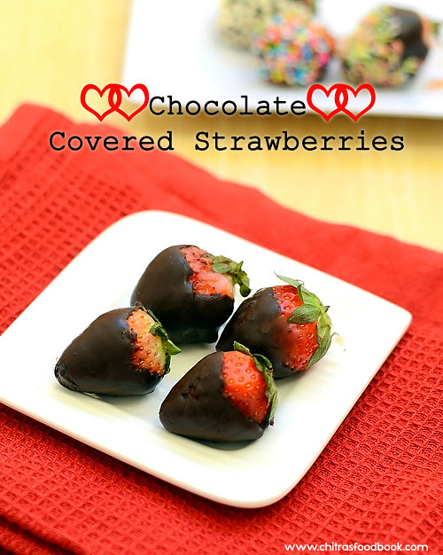 Chocolate covered strawberries recipe