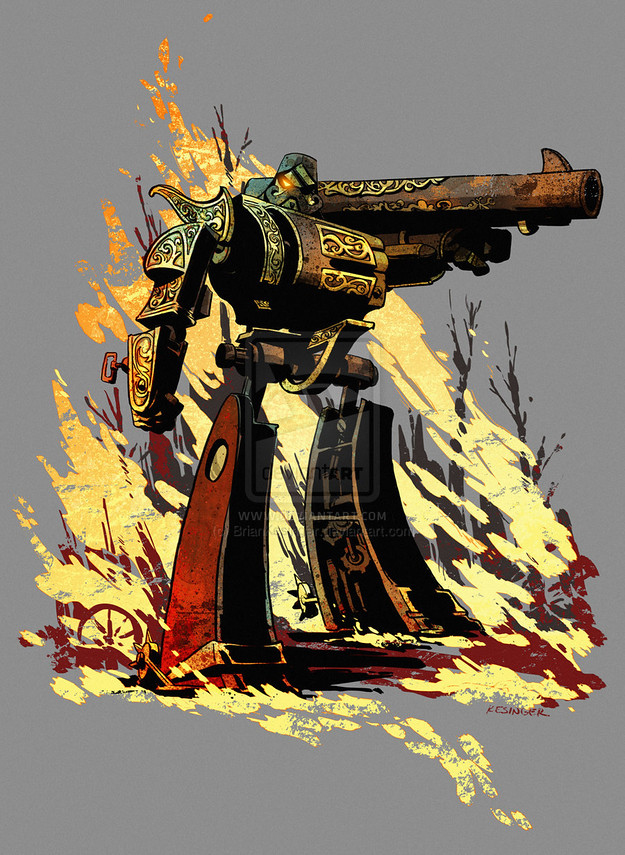 Steampunk Transformers Megatron by Brian Kesinger