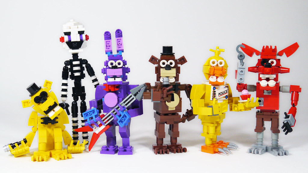 Lego five nights at freddy s animatronics actionfig flickr