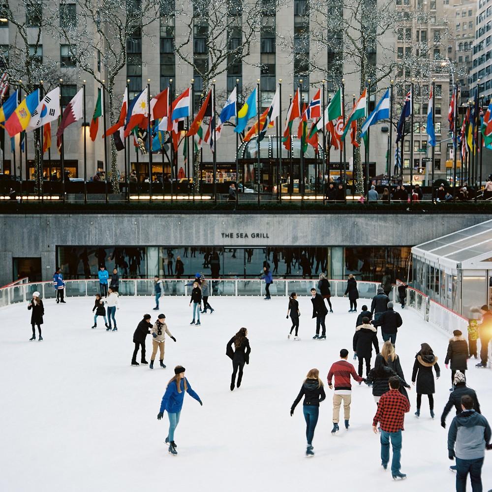 Rink @ Rockefeller Center - Mamiya C330f | Kodak Portra 400