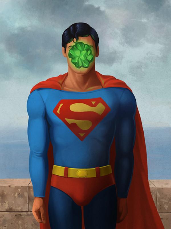 Magritte Superman by Ben Chen